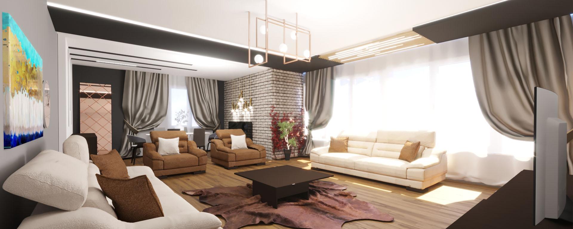 Lia mimarlık konut modern içmekan tasarımı